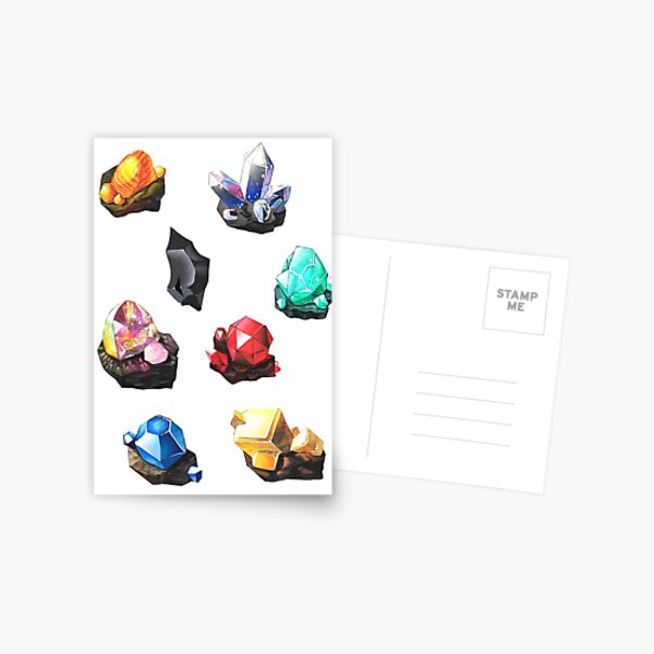 BOTW gemstones Postcard