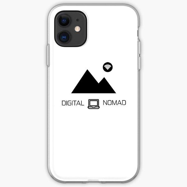 Nómada digital: montaña y diseño de portátiles Funda blanda para iPhone
