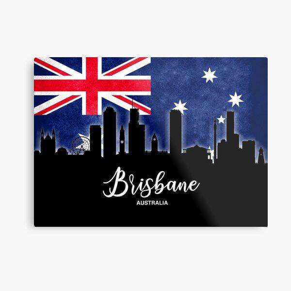 My city from Australia, Brisbane, Queensland Metal Print