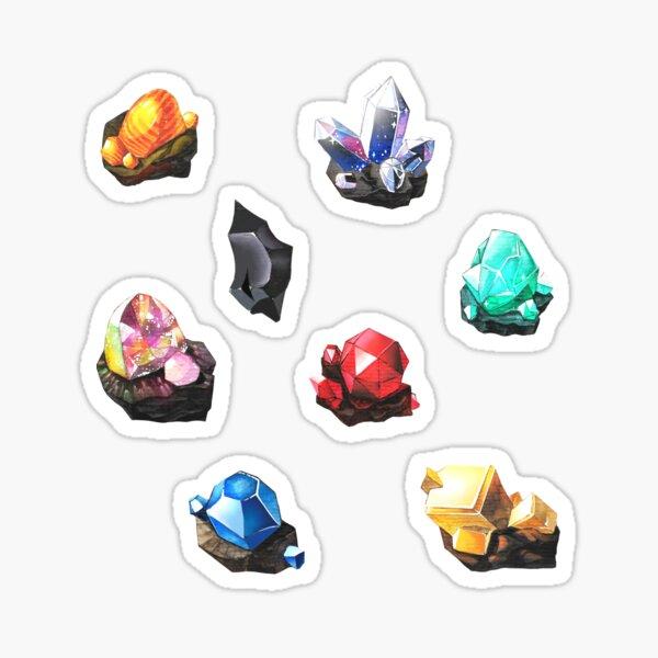 BOTW gemstones Sticker