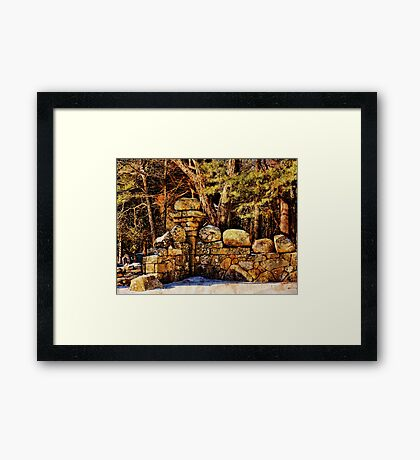 Quiet Corner in the Cemetery Framed Print