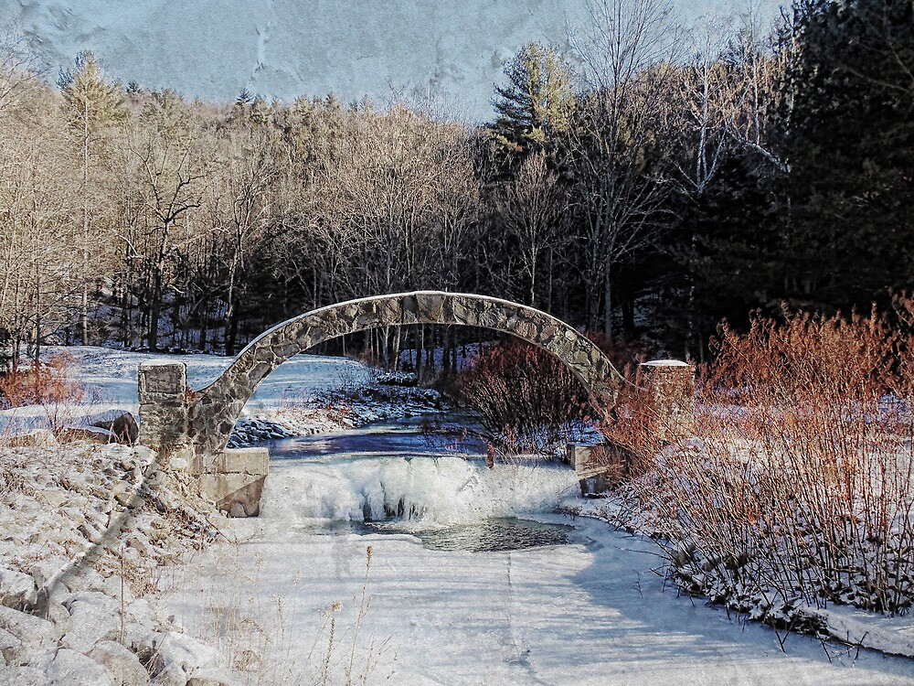 Stone Arch over the Stream by PineSinger