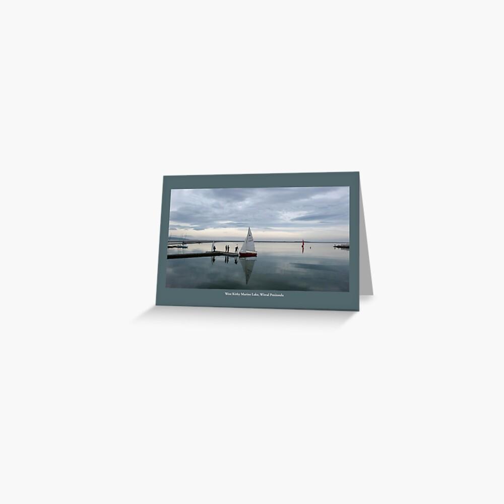West Kirby Marine Lake Greeting Card