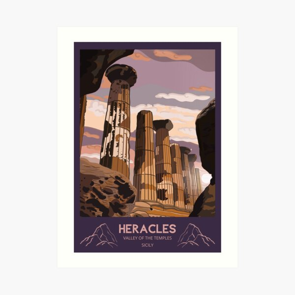 Temple of Heracles: Agrigento, Valley of the Temples Art Print