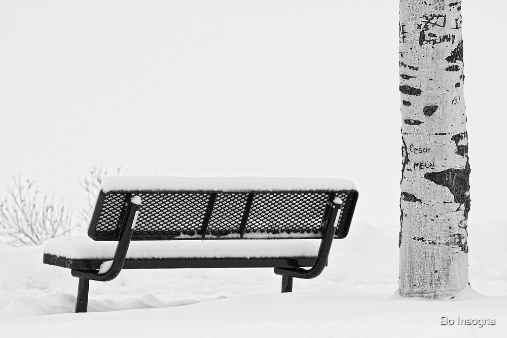 Cesar Melai Love in The Snow BW by Bo Insogna