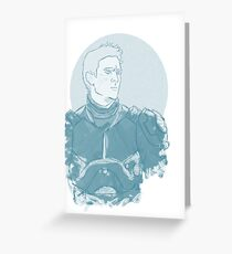 Raleigh, Gypsy Danger Pilot (Blue) Greeting Card