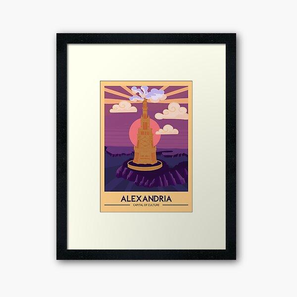 Lighthouse of Alexandria  Framed Art Print