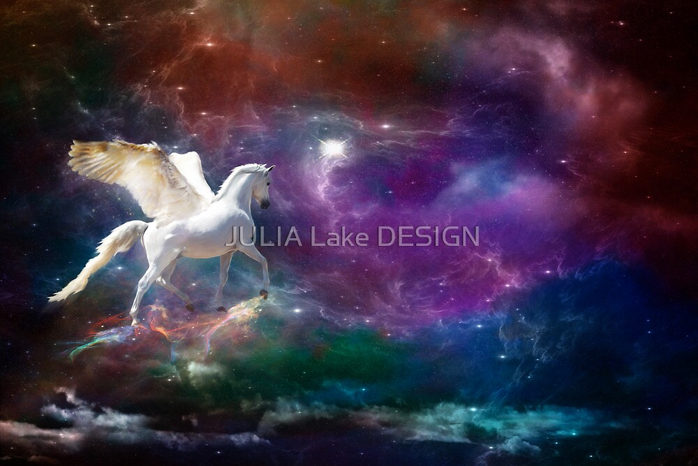 pegasus across the universe by JULIA Lake DESIGN