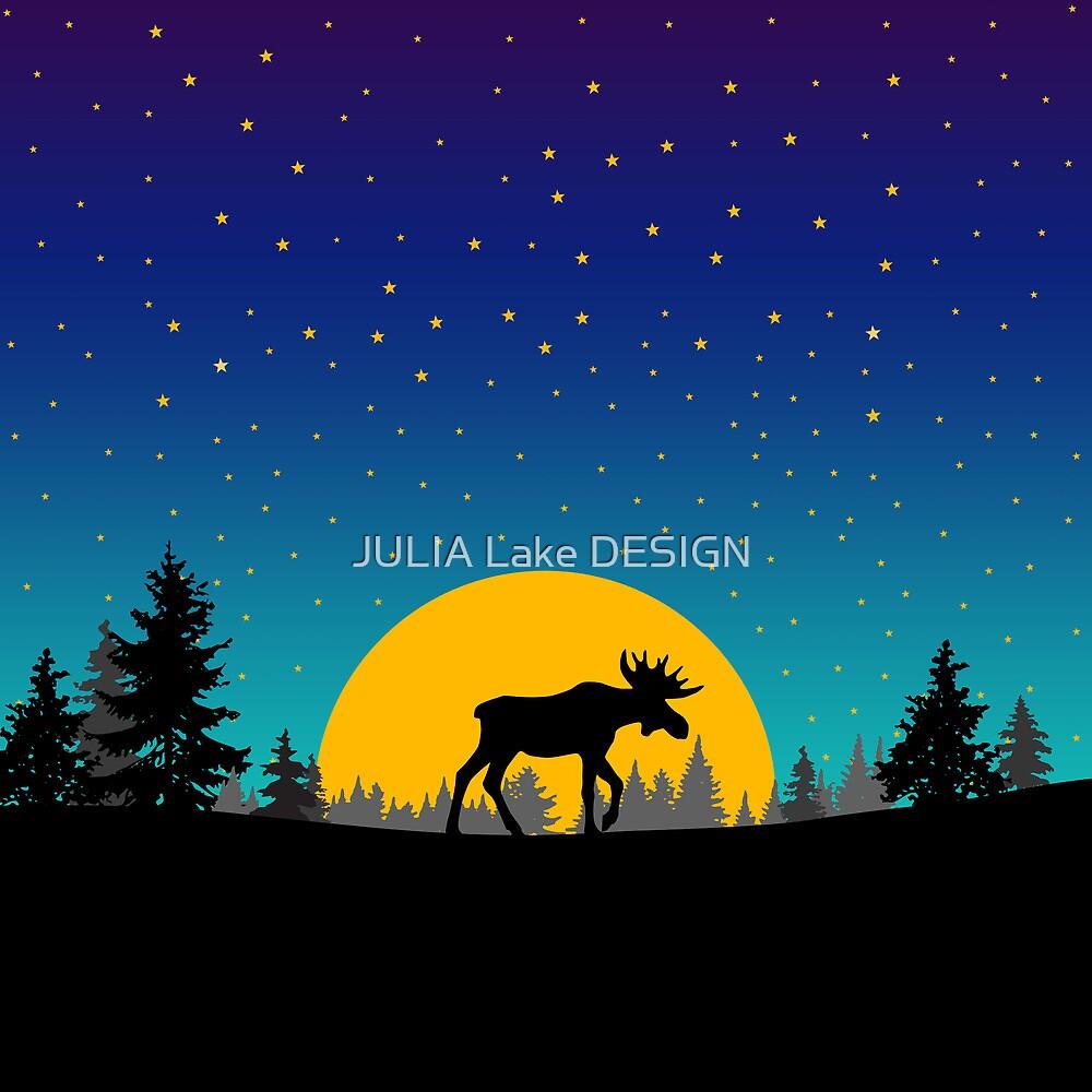 Moose moon trees by JULIA Lake DESIGN