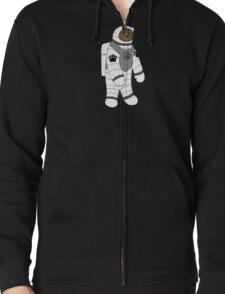 Astronaut bear  Zipped Hoodie