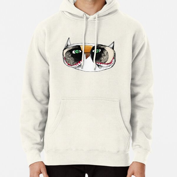 The Owl with Green Eyeballs Pullover Hoodie