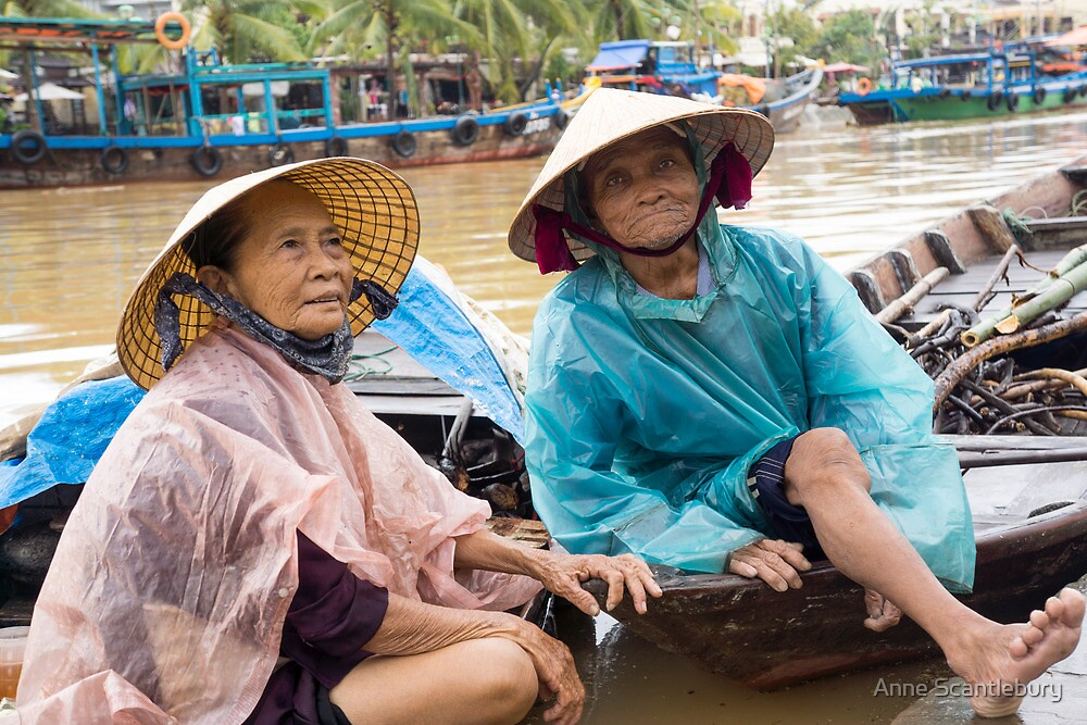 two in hoi an by Anne Scantlebury