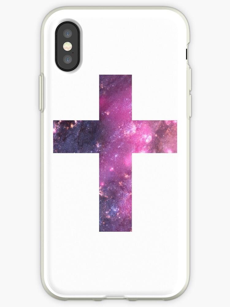 Pink galaxy iPhone Case by borntokill