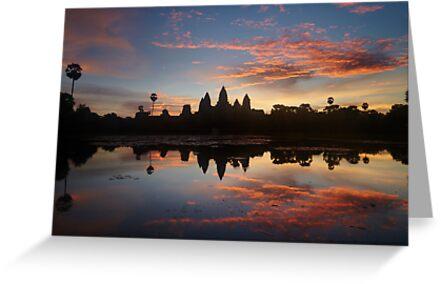 Sunrise at Angkor Wat by DebWinfield