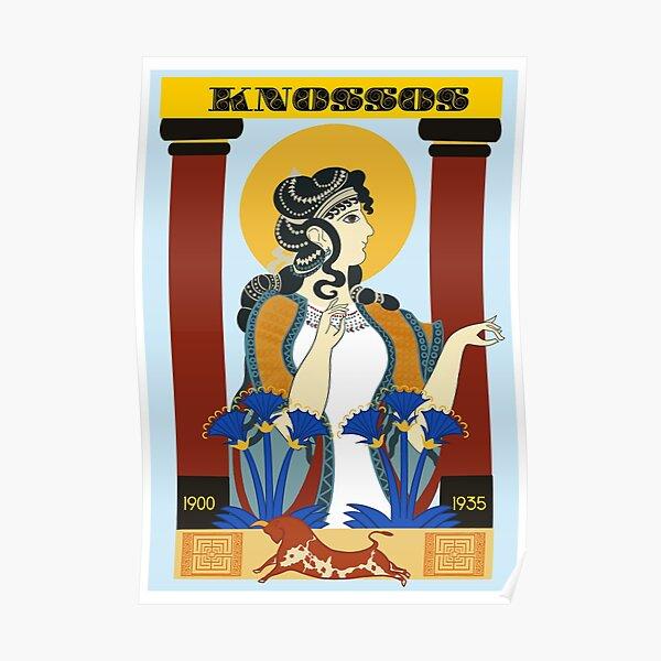 Knossos Art Deco Poster Poster