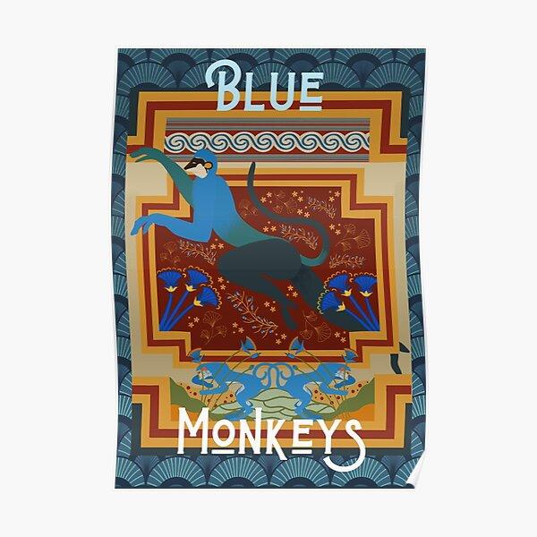 Blue Monkeys of Knossos & Akrotiri Poster