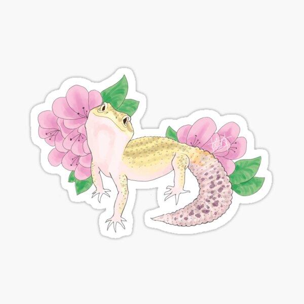 Gecko with Flowers Sticker