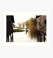 Village life in Siam Reap Art Print