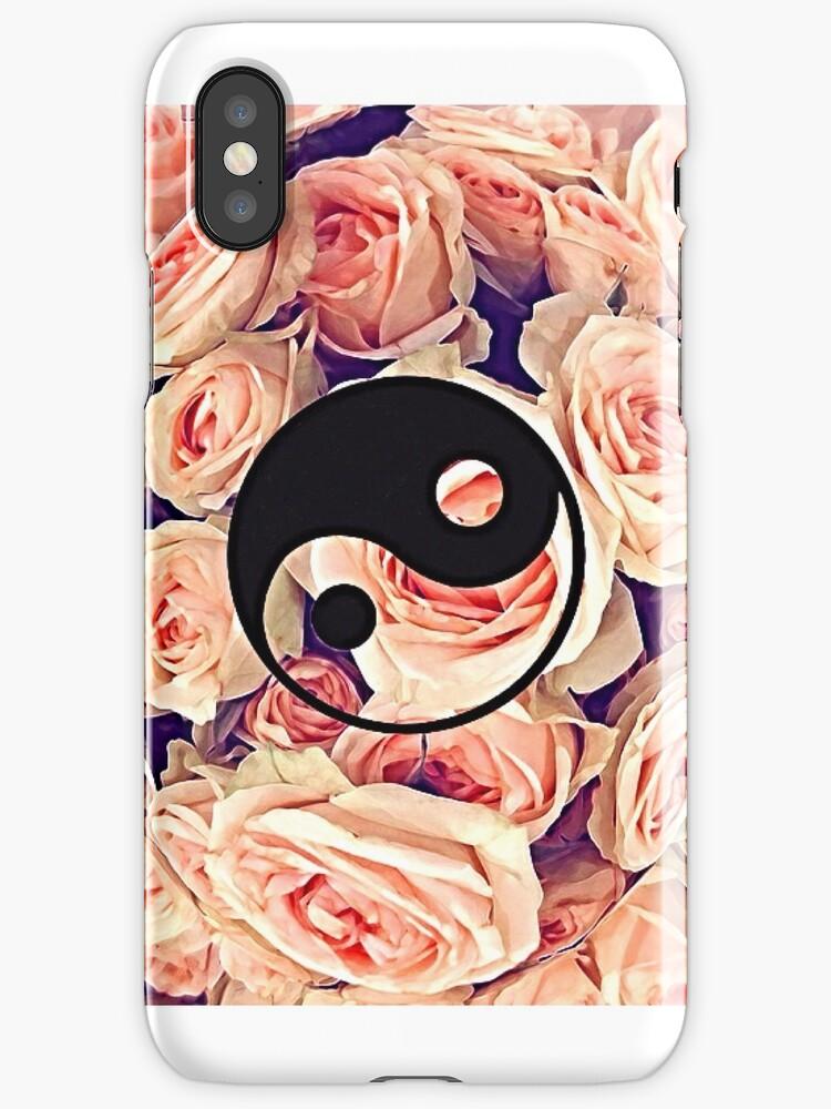Floral Yin Yang Case by borntokill
