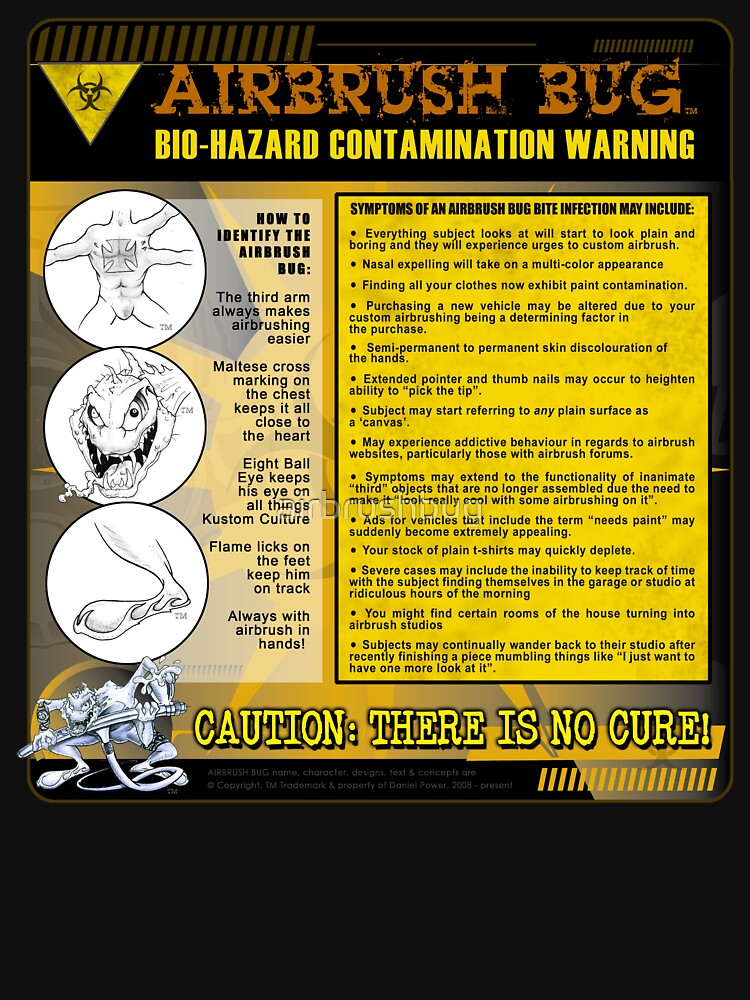AIRBRUSH BUG: Bio Hazard Warning! by airbrushbug