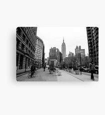 New York City streetscape Canvas Print