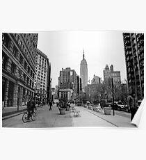 New York City streetscape Poster