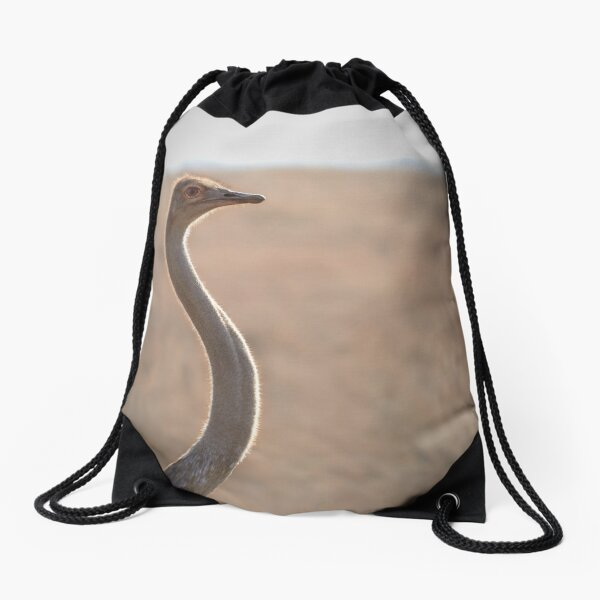 I See You Ostrich Drawstring Bag