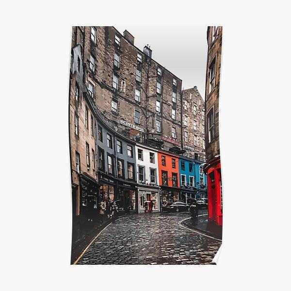 Edinburgh buildings skyline / Grassmarket area Poster