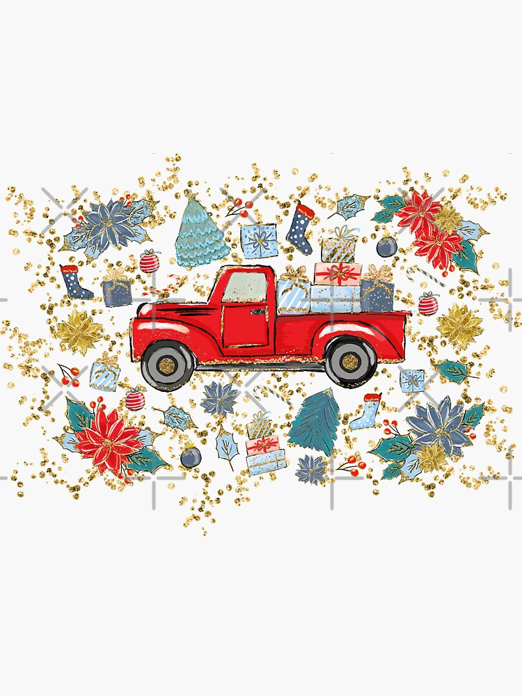 Red Truck Christmas, Farmhouse Holiday Glam by ChristmasMasks