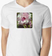 Pink blossom Mens V-Neck T-Shirt