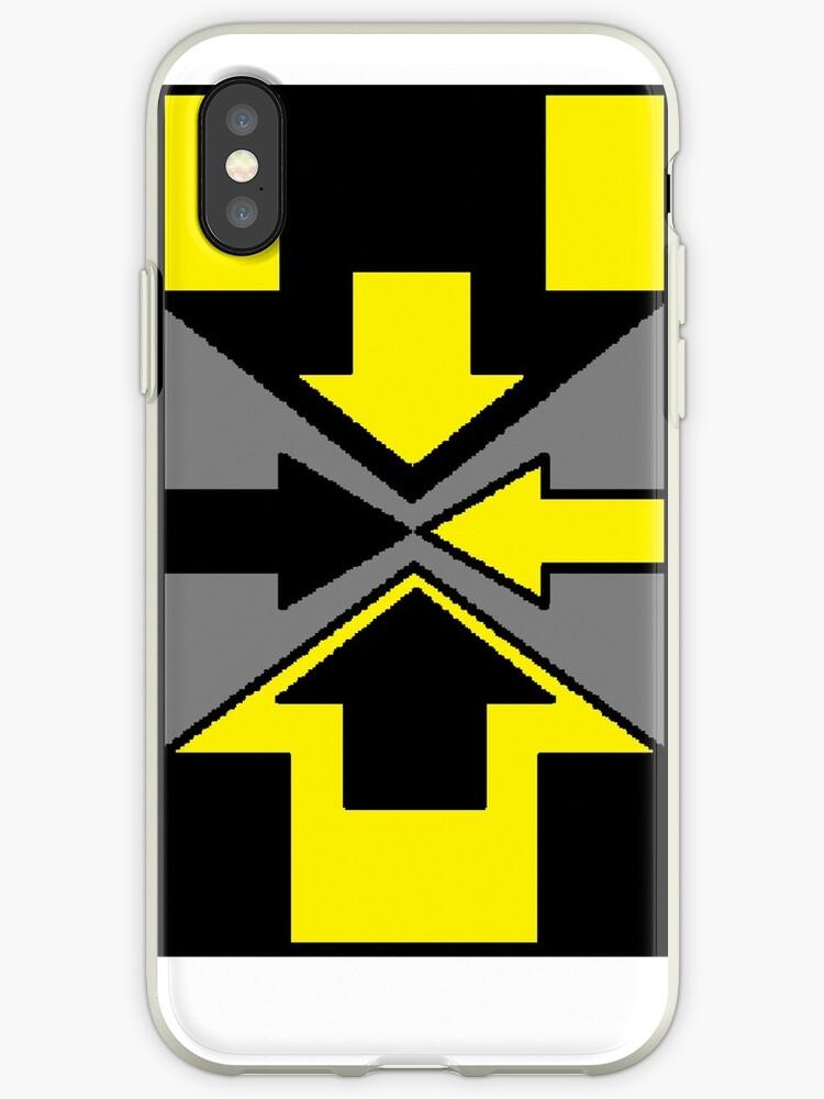 Black & Yellow Arrow Case by kdiaz2341