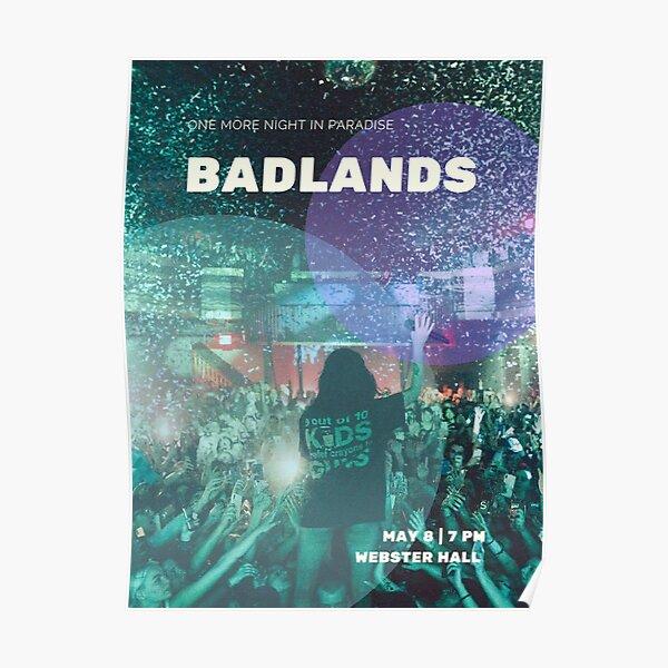 Webster Hall Poster | Badlands | Fan Made  Poster