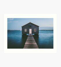 'Matilda Bay Boathouse' Art Print
