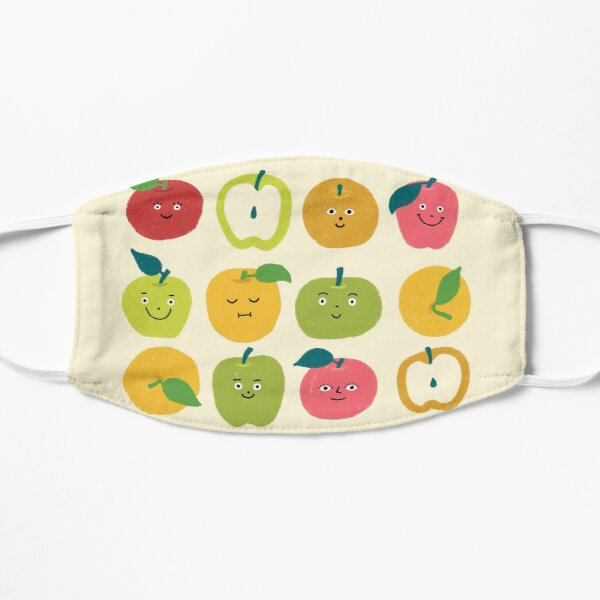 Smiling Rainbow Apples Mask