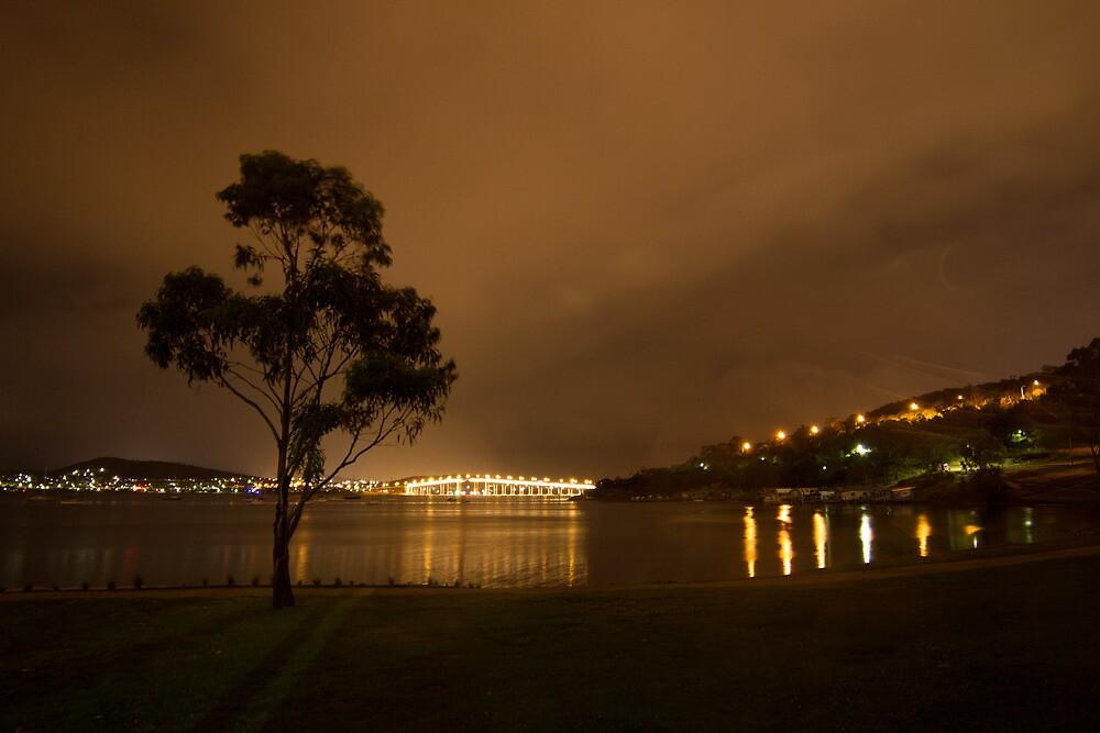 Tasman Bridge from Cornelian Bay, Hobart by Laura O'Dwyer