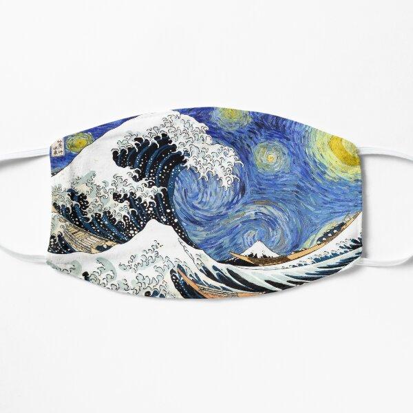 Iconic Starry Night Wave of Kanagawa Flat Mask