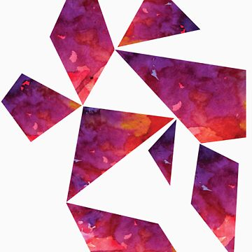 Geometric Watercolour #2 by tarawhyley