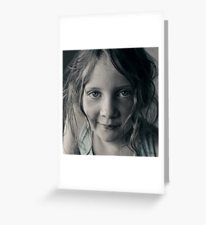 And then she smiled after all ... Greeting Card