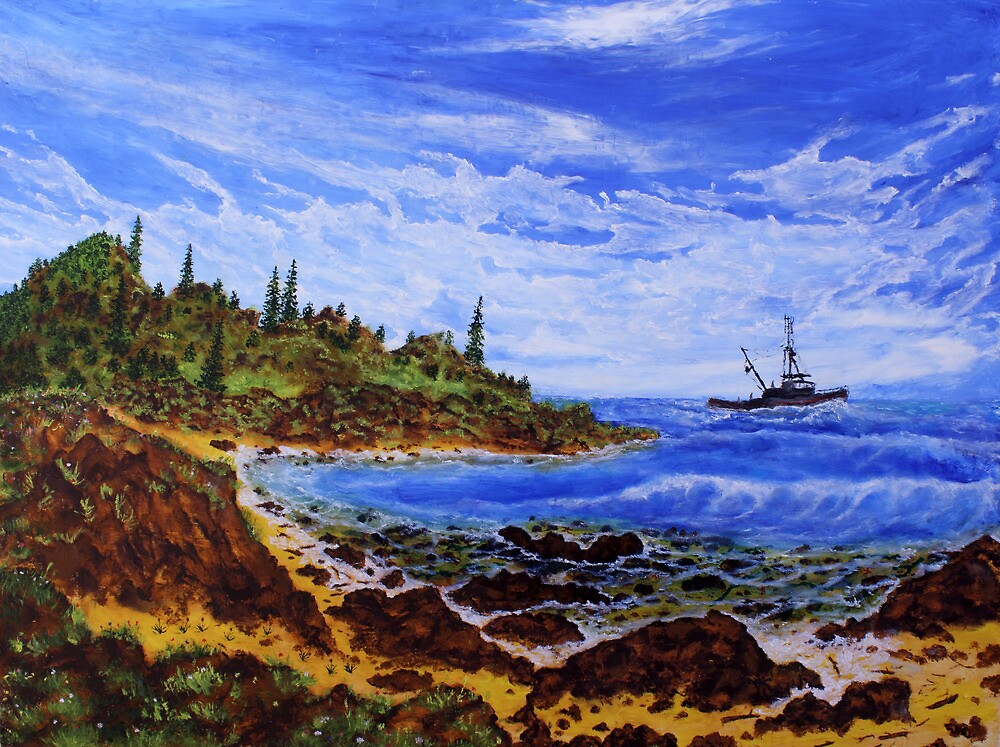 Primorye territory (classical oil painting for posters and prints) by konovalenko