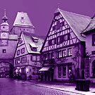 Purple view on Rothenburg by Arie Koene