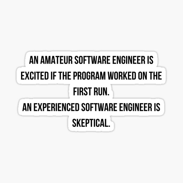 Amateur vs Experienced Software Engineer Sticker