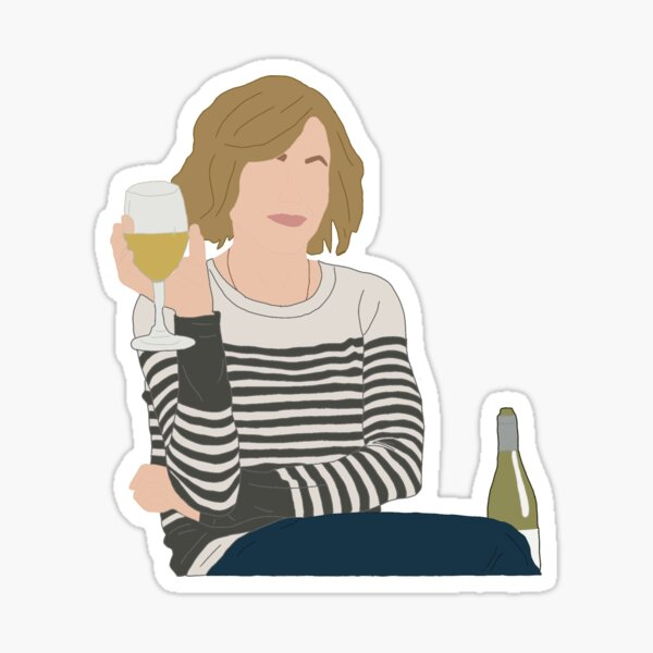 Claire with Drink Sticker