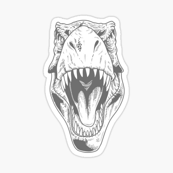 T. rex Stare Sticker