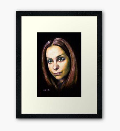 """Kirstie"" Framed Print"