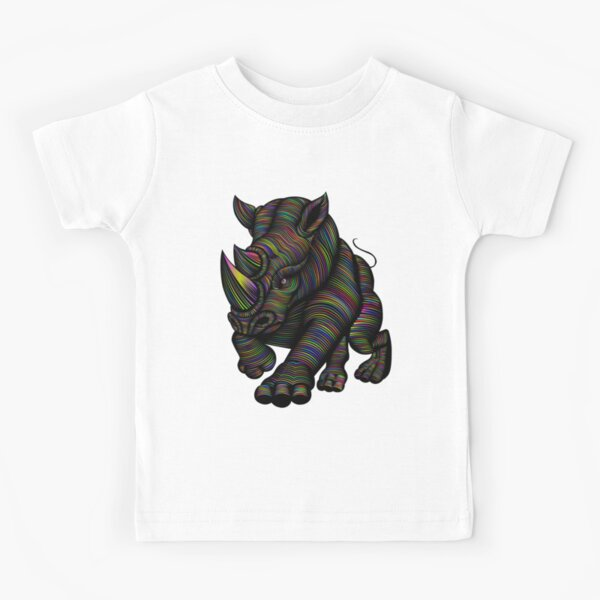 Psychedelic Rhino Kids T-Shirt