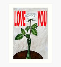 LOVE YOU 16 Art Print