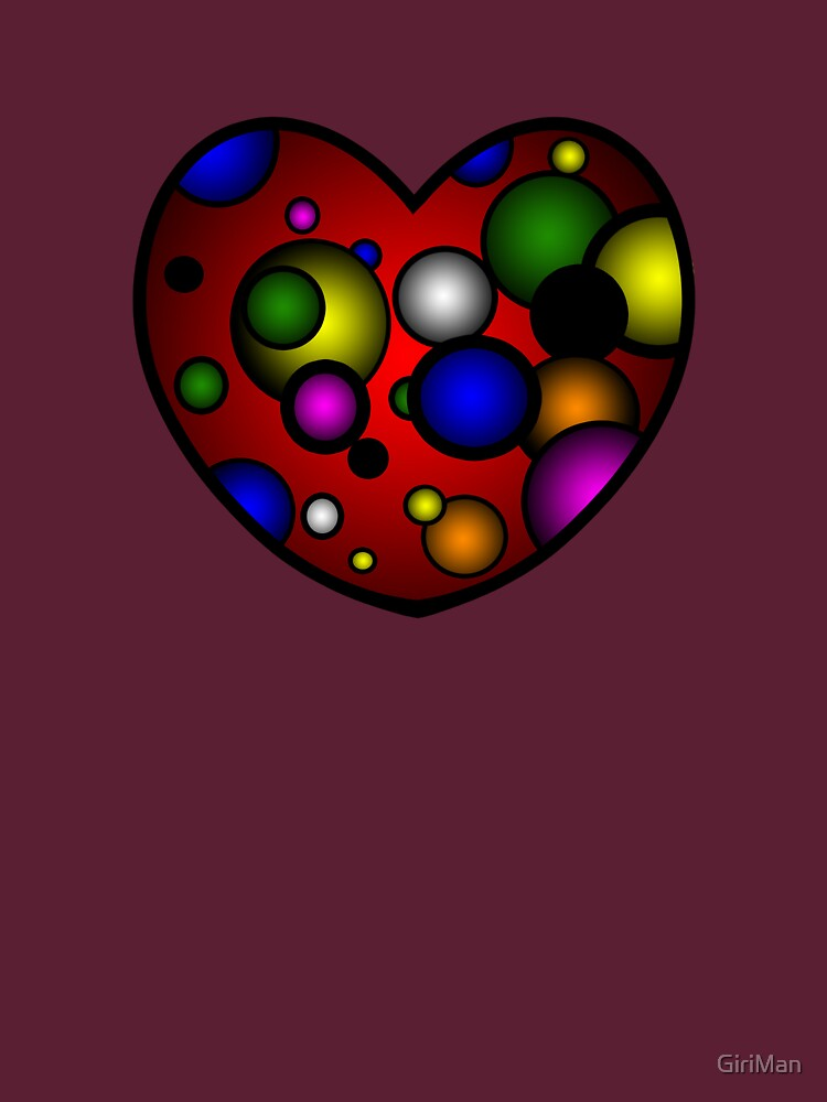 Valentines Day Heart on Red by GiriMan