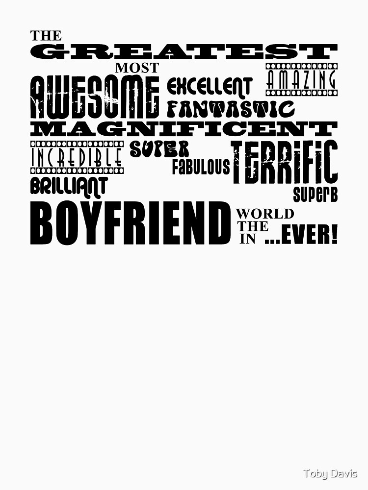 Greatest Boyfriend Word Cloud by tobiphoto
