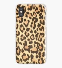Leopard leather pattern texture closeup iPhone Case/Skin