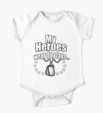 My Heroes wear dog tags One Piece - Short Sleeve